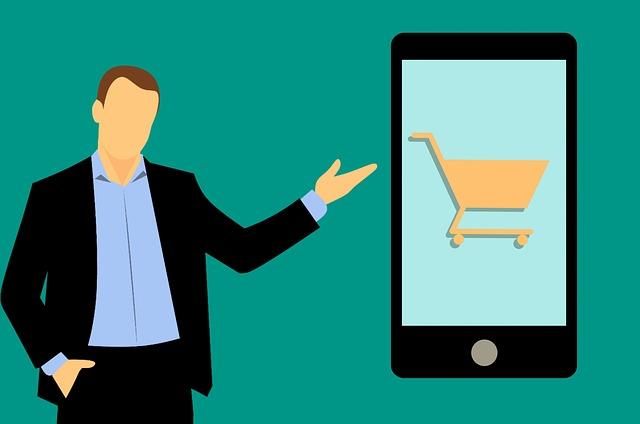 Mobil, nákupný košík, e-shop, ilustrované.jpg